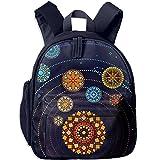 Mandala Planets Solar Cute Backpack School Book Backpack Shoulder Bag Schoolbag For Girls Boys
