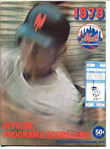 1979 NEW YORK METS PROGAM & SCORECARD-SHEA STADIUM-TICKET STUB ATTACHEDMLB-good Mets Stadium Tickets