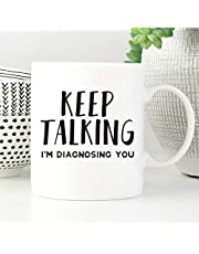 Dason Keep Talking Im Diagnosing You Mok Psycholoog Gift Grappige Psychologie Mok Psychologie Geschenken Grappige SLP Geschenken SLP MokkenSpraaktherapie Mok