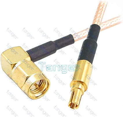 1x SMA Male Plug to SMA Male Right Angle Jumper Pigtail RF Cable RG316 6in 15cm