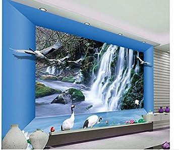 Wapel 3d Tapete Fur Raum Wasserfall Wohnzimmer Hintergrund