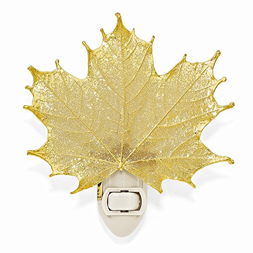 24k Gold Coated Real Sugar Maple Leaf Nightlight -Made in USA