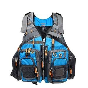 Amarine made fly fishing vest pack fishing for Fishing vest amazon