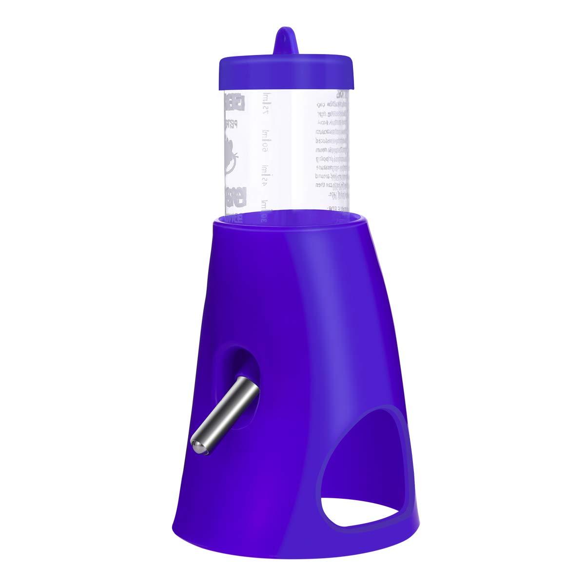 UKCOCO Petite Bouteille de Boisson pour Animaux avec repaire d'animal de Compagnie, Bouteille d'eau 2 en 1 avec Base de Plastique