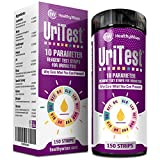 10 Parameter Urinalysis Test Strips 150ct - Made in USA - Urinary Tract Infection Strips (UTI) Urine Test Strips Test Glucose, Ketone, pH, Protein & More - For Diabetes, Gallbladder & Kidney Problems