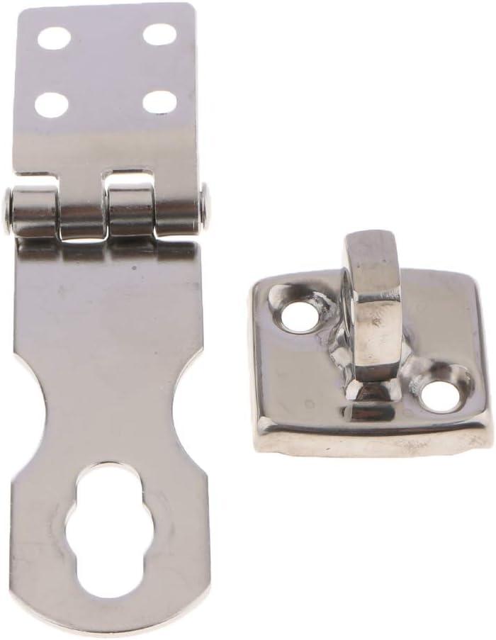 Almencla Cerradura de Puerta de Candado de Acero Inoxidable Hardware para Gabinetes Cajas y Ba/úles