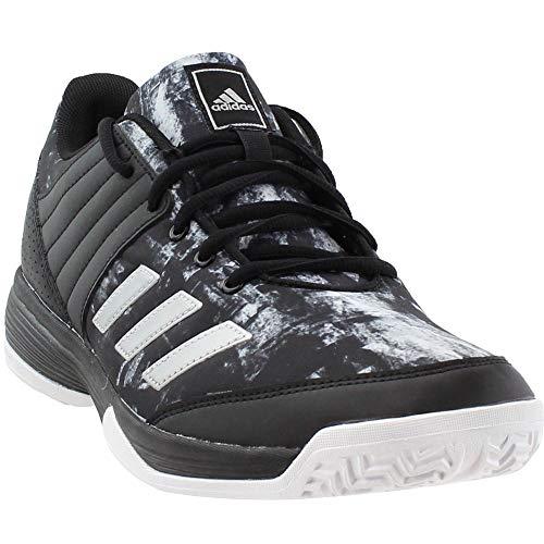adidas Women's Ligra 5 W Tennis Shoe, Black/Metallic Silver/White, 10.5 Medium US