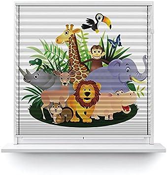 Amazon De Unbekannt Foto Plissee Motiv Kinder Tiere Im