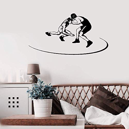 Aweyu Wall Decal Quote Words Lettering Decor Sticker Wall Vinyl Wrestling Martial Arts Greco Roman Fighters Sport