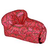 Air Sofa Inflatable, Watermelon Pull-Out Sofa Inflatable Bed, Outdoor Portable Fast Bed Sleeping Sofa Couch Chair Indoor Sleeper, Inflatable Sofa for Beach Camping Pool Float Holiday (Red)