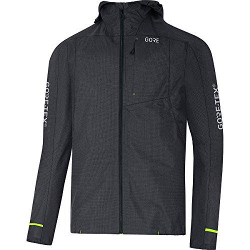 GORE Wear Men's Waterproof Hooded Jacket, C5 GORE-TEX Trail Hooded Jacket, M, Terra Grey, 100254 from GORE WEAR