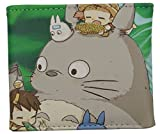 Totoro wallet My Neighbor Totoro, Bifold Billfold for men women unisex (Snack Time)