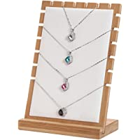 Smyckesställ, halskedja smycke display, hänge hållare stativ trä
