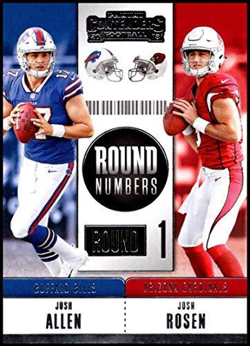 - 2018 Contenders Round Numbers Football #RNA-AR Josh Allen/Josh Rosen Arizona Cardinals/Buffalo Bills Official NFL Trading Card made by Panini