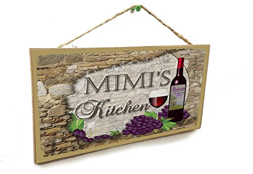 Blackwater Trading Personalized Custom Your Name's Kitchen Italian Vintage Style Wine Sign Plaque 5