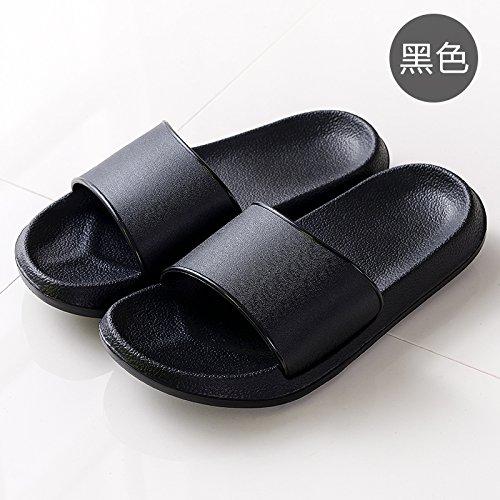 DogHaccd pantofole,La sig.ra pantofole estate uomini casuale personalità del mondo della moda di spessore, antiscivolo scanalato di sabbia nel bagno soggiorno casa cool pantofole,Nero45