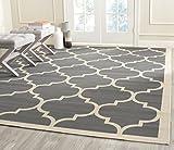 outdoor indoor rug - Safavieh Courtyard Collection CY6914-246 Anthracite and Beige Indoor/ Outdoor Area Rug (5'3