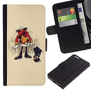All Phone Most Case / Oferta Especial Cáscara Funda de cuero Monedero Cubierta de proteccion Caso / Wallet Case for Apple Iphone 6 PLUS 5.5 // Funny Hedgehog Robotni