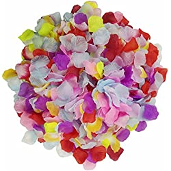 Skyshadow 1000 Pcs Colorful Artificial Flowers Monolithic Rose Petals Wedding Silk Petals Romantic Proposal