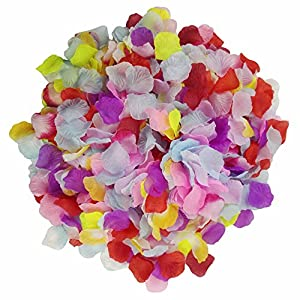 Skyshadow 1000 Pcs Colorful Artificial Flowers Monolithic Rose Petals Wedding Silk Petals Romantic Proposal 63