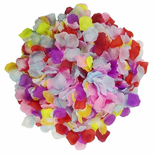 Skyshadow 1000 Pcs Colorful Artificial Flowers Monolithic Rose Petals Wedding Silk Petals Romantic Proposal -