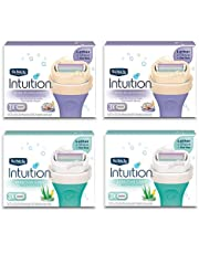 Womens Razor Refills Intuition Pure Nourishment & Sensitive Skin Care Cartridges (Sensitive & Nourishment)