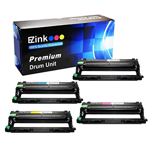 E-Z Ink (TM) Compatible Drum Unit Replacement For Brother DR221CL (1 Black, 1 Cyan, 1 Magenta, 1 Yellow Drum Unit) Compatible With HL-3140CW HL-3170CDW MFC-9130CW MFC-9330CDW MFC-9340CDW Laser Printer Cyan Drum Unit Cartridge