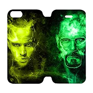 For Phone Case Iphone 5/5s Beautiful Attractive Design Breaking Bad - Flip Stand PU Leather Holster Wallet Folder Case Cover for Iphone 5/5s