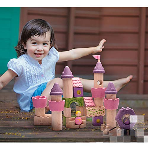 HXGL-Toys Wooden Toy Fairy Tale Castle Children's Gift Early Education Puzzle 3-6 Prince Princess (Color : Pink) by HXGL-Toys (Image #4)