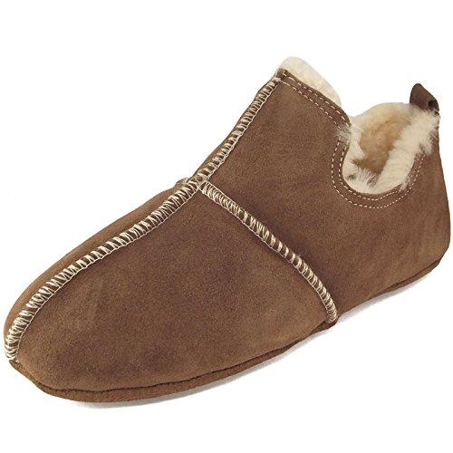 Aladdin 492 COG Unisex Fellhof Sheepskin Slippers Brown Size: 8