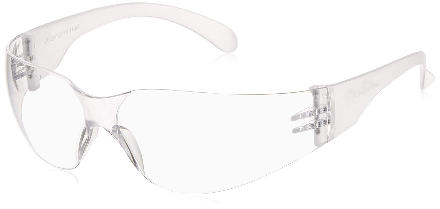 BISON LIFE Safety Glasses, One Size, Clear Polycarbonate Lens, 12 per Box (1 box) by BISON LIFE (Image #6)