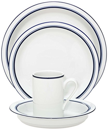 Dansk Christianshavn Blue 4-Piece Place Setting, Service for 1 (Blue Setting 4 Piece Place)