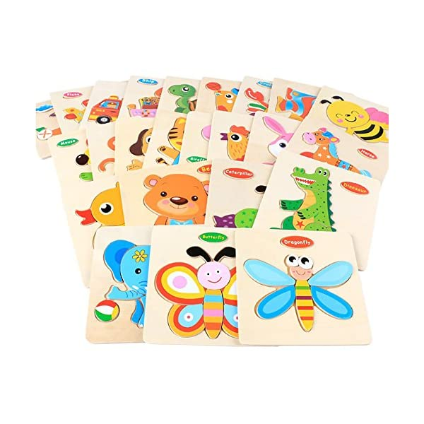 2461832358d33 Digood Home Learning Preschool Early Educational Development Colorful Wooden  Puzzle Training Kids Toy for Age 3-7 ...