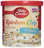 Betty Crocker, Rich & Creamy Frosting, Rainbow Chip, 16oz Tub (Pack of 3)