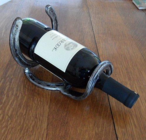 Amazoncom Wine Rack Made With Horseshoes Choose A Single Bottle