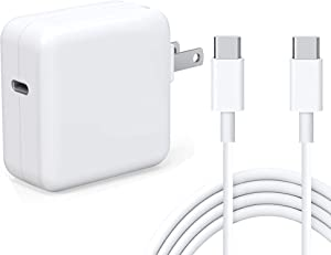 Tissyee 30W USB C Power Adapter, Compatible with MacBook 12inch 2015 MacBook Air Charger 2018Late iPad Pro, Pixel, Galaxy, Works with PD 30W 29W 20W, Included USB-C to USB-C Charge Cable (6.6ft/2m)