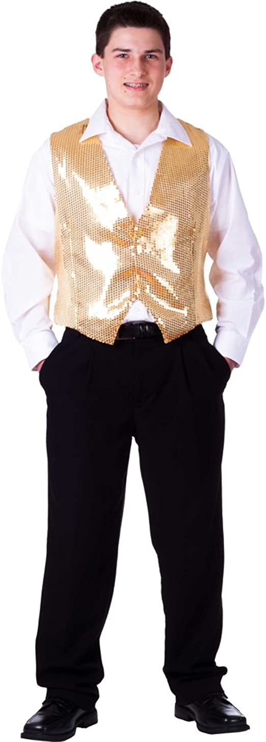 Men Women Sequin Tassel Vest Waistcoat Tank Top Coat Dance Costume Clubwear Chic