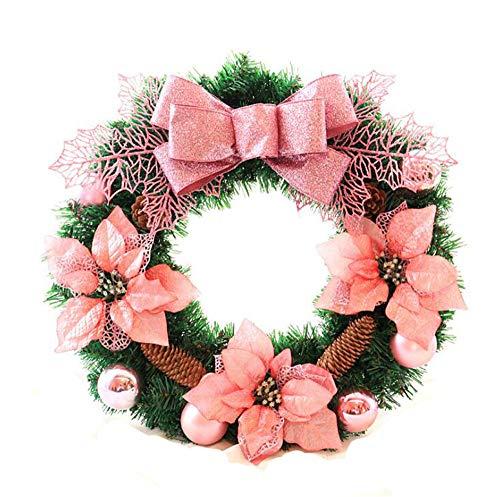 YSNJL Christmas Wreath 45/50/60CM Christmas Decoration Door Hanging Vine Wreath]()
