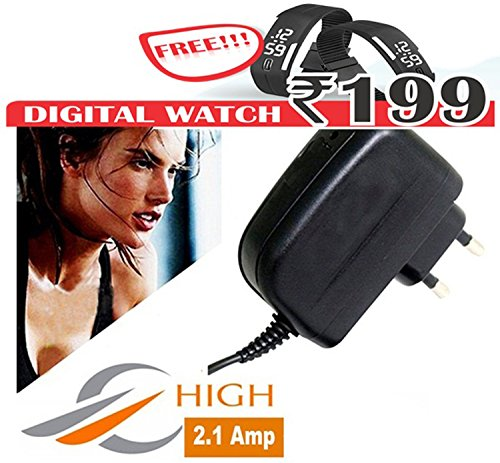 High Speed 2.1 Amp Charger Compatible for All Smartphones with Free OTG   Free Wrist Watch.