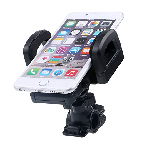 STOUCH Universal Clamp Grip Bicycle / Motorcycle Handlebar Mount Cell Phone Holder for iPhone6/6 Plus/5/5S/5C, iPod, GPS, PDA, HTC, Samsung Galaxy and more
