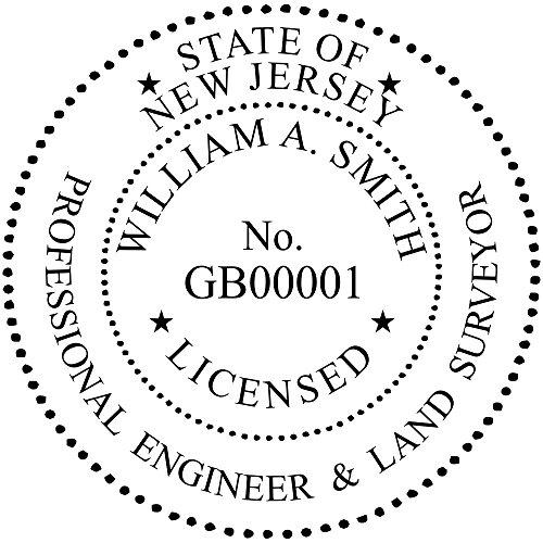 New Jersey Dual Engineer and Surveyor Embosser