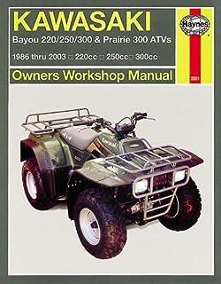 kawasaki klf300 bayou 2x4 1994 factory service repair manual