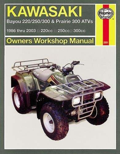 Kawasaki ATVs Bayou and Prairie '86 to '11 (Haynes Service & Repair Manual) (Manual Repair Kawasaki Atv)