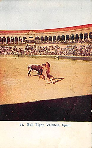 Bull Fight Valencia, Spain Old Vintage Bull Fighting Postcard Post - Valencia In Towns