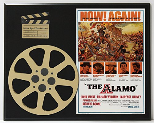 THE ALAMO WITH JOHN WAYNE RICHARD WIDMARK LIMITED EDITION MOVIE REEL DISPLAY