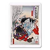 Folk Hero Yamato Takeru no Mikoto Attacking another Man Japanese Wood-Cut Print (Playing Card Deck - 52 Card Poker Size with Jokers)