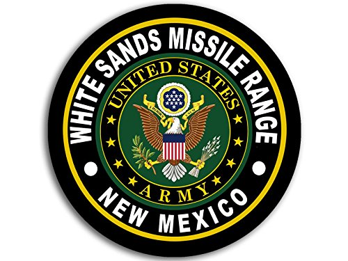 American Vinyl Round White Sands Missile Range Army Base Sticker (Logo Insignia nm)