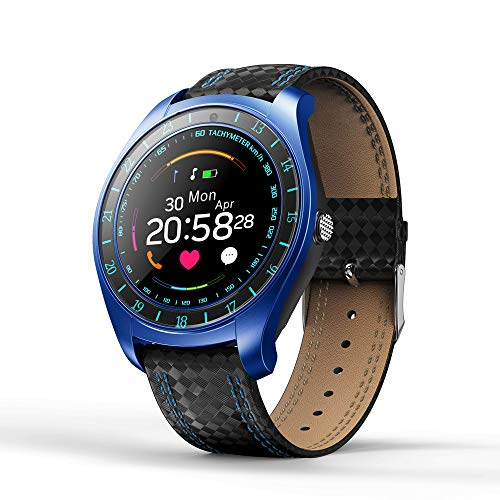 Price comparison product image Choosebuy Bluetooth Smart Watch,  Touch Screen Sports Health Smart Wristwatch IP67 Waterproof Fitness Tracker / Remote Camera / Heart Rate Monitor SIM TF Card Smart Bracelet for Android / iOS (Blue)