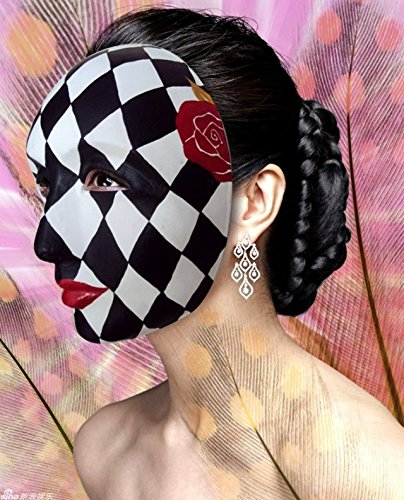 2015 - New Handmade DIY Mask Red Rose Kiss Eye Mask Costume Paper Mache Pulp (Diy Kiss Costumes)