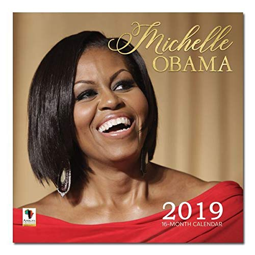"Office Products : African American Expressions - 2019 Michelle Obama 12 Month Calendar (12"" x 12"") WC-175"